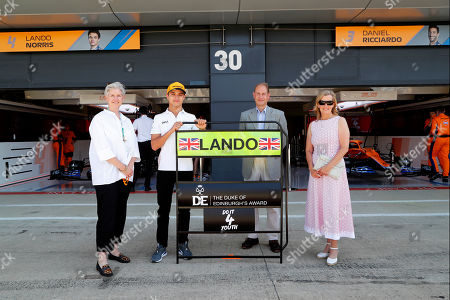 Editorial picture of Earl and Countess of Wessex at F1 British Grand Prix, Silverstone, UK - 18 Jul 2021