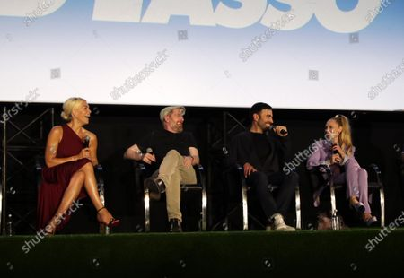 """Stock Image of :ÊHannah Waddingham, Brendan Hunt, Brett Goldstein and Juno Temple attend the """"Ted Lasso"""" season two special FYC screening at the Pacific Design Center. The second season of """"Ted Lasso"""" will make its global debut on Apple TV+ on Friday, July 23."""