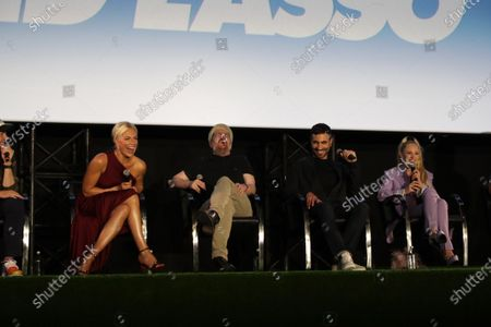 """:ÊHannah Waddingham, Brendan Hunt, Brett Goldstein and Juno Temple attend the """"Ted Lasso"""" season two special FYC screening at the Pacific Design Center. The second season of """"Ted Lasso"""" will make its global debut on Apple TV+ on Friday, July 23."""