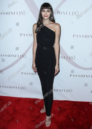 Stock Image of Actress Margaux Brooke arrives at the Los Angeles Premiere Of Passionflix's Series 'Driven' Season 2 held at AMC Santa Monica 7