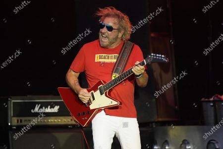 Sammy Hagar performs with The Circle at RiverEdge Park in Aurora, Ill