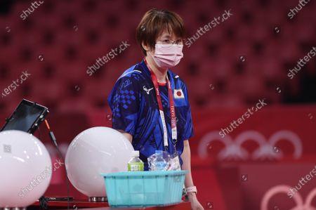 Mika Baba (JPN) - Table Tennis : Official training at Tokyo Metropolitan Gymnasium before the Tokyo 2020 Olympic Games in Tokyo, Japan.
