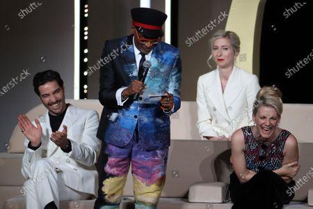 Jury President Spike Lee, Jury members Tahar Rahim, Jessica Hausner, Melanie Laurent, Closing Ceremony, during the 74th International Cannes Film Festival, at Palais des Festivals, Cannes