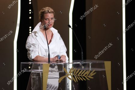 Melanie Thierry on stage, Closing Ceremony, during the 74th International Cannes Film Festival, at Palais des Festivals, Cannes
