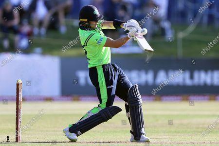 Stock Picture of Ireland vs South Africa. Ireland's Josh Little batting