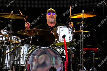 Stock Photo of Jason Bonham performs with Sammy Hagar & The Circle at RiverEdge Park in Aurora, Ill. on