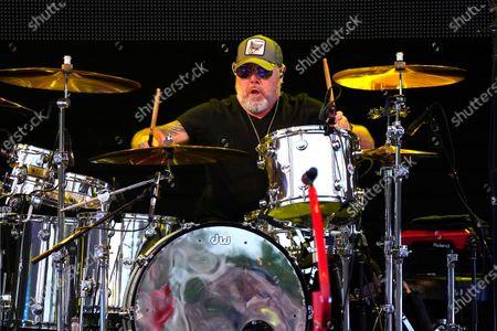 Jason Bonham performs with Sammy Hagar & The Circle at RiverEdge Park in Aurora, Ill. on
