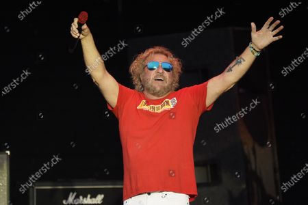 Sammy Hagar performs with The Circle at RiverEdge Park in Aurora, Ill. on