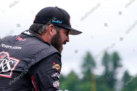 Martin Truex Jr. at a NASCAR Cup Series auto race, in Loudon, N.H