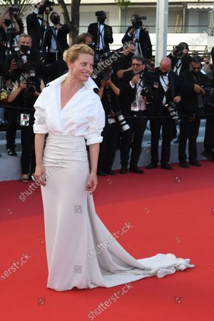 """Melanie Thierry attend the final screening of """"OSS 117: From Africa With Love"""" and closing ceremony during the 74th annual Cannes Film Festival on July 17, 2021 in Cannes"""