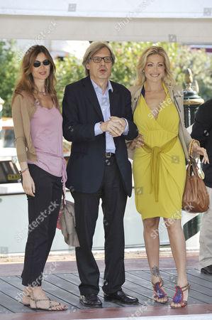 Sabrina Colle, Vittorio Sgarbi and Vittoria Risi