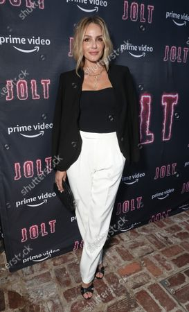 "Monet Mazur attends Amazon Studios ""Jolt"" Special Screening"