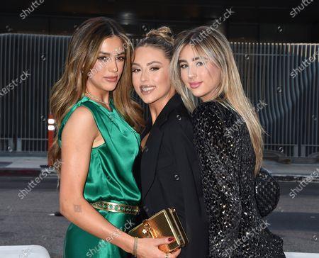 Sistine Stallone, Scarlet Rose Stallone and Sophia Rose Stallone