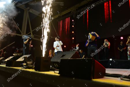 Colombian Singer Jorge Celedon and Sergio Luis Rodríguezperforms onstage