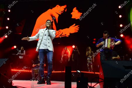 Stock Photo of Colombian Singer Jorge Celedon and Sergio Luis Rodríguezperforms onstage