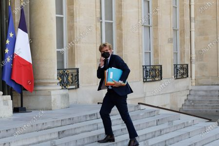 Stock Picture of French Junior Minister of Relations with the Parliament Marc Fesneau arrives for the meeting of the French Council of Ministers at the Elysee Palace in Paris, on July 19, 2021
