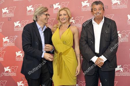 Vittorio Sgarbi, Vittoria Risi and Tarak Ben Ammar