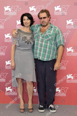 Hiam Abbass and Director Julian Schnabel