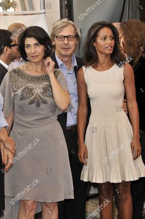 Hiam Abbass, Vittorio Sgarbi and Rula Jebreal