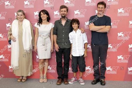 Luisa De Santis, Maya Sansa, Director Ascanio Celestini, Luigi Fedele and Giorgio Tirabassi