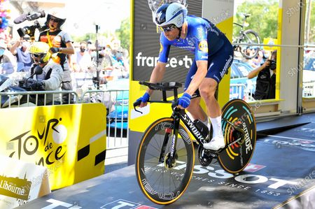 Michael Morkov (DEN) at the start of the twentieth stage of Tour de France cycling race, an Individual Time Trial over 30.8 kilometers (19.1 miles) with start in Libourne and finish in Saint-Emilion, France, Saturday, July 17, 2021.