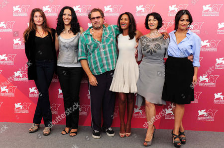 Stella Schnabel, Ruba Blal, Director Julian Schnabel, Rula Jebreal, Hiam Abbass and Jasmine Al Massri