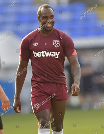 Michail Antonio of West Ham United in action during warm up