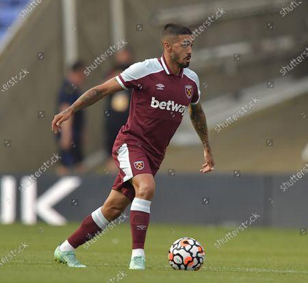 Manuel Lanzini of West Ham United in action