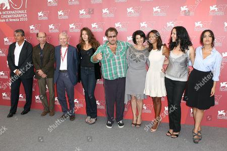 Stella Schnabel, Julian Schnabel, Hiam Abbass, Rula Jebreal, Ruba Blal, Jasmine Al Massri and cast