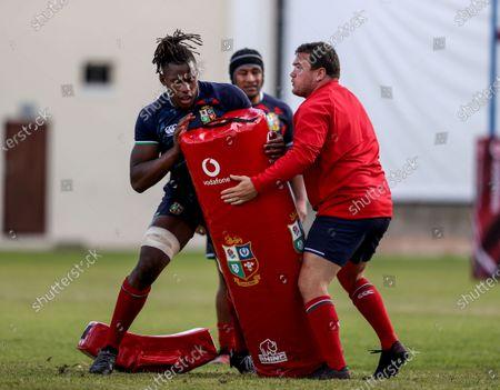 British & Irish Lions Squad Training, South Africa 20/7/2021. Maro Itoje and Jamie George