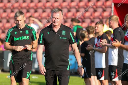 Stoke City Manager Michael O'Neill during the Pre-Season Friendly match between Crewe Alexandra and Stoke City at Alexandra Stadium, Crewe
