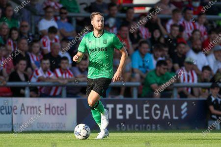 Stoke City Midfielder Nick Powell runs with the ball during the Pre-Season Friendly match between Crewe Alexandra and Stoke City at Alexandra Stadium, Crewe