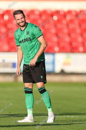 Stoke City Midfielder Nick Powell during the Pre-Season Friendly match between Crewe Alexandra and Stoke City at Alexandra Stadium, Crewe