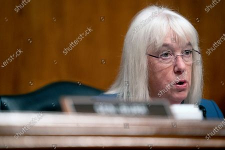 Sen. Patty Murray, D-Wash., speaks during a Senate Health, Education, Labor, and Pensions Committee hearing, on Capitol Hill in Washington