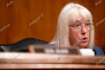 United States Senator Patty Murray (Democrat of Washington), Chairman, US Senate Health, Education, Labor and Pensions Committee speaks during a Senate Health, Education, Labor, and Pensions Committee hearing at the Dirksen Senate Office Building in Washington.