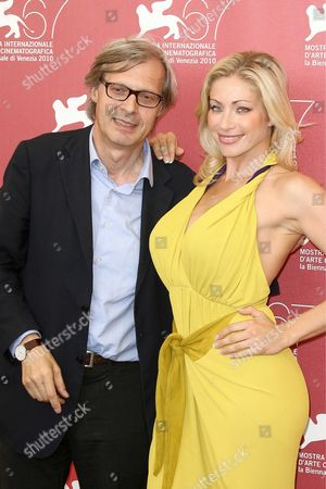 Stock Photo of Vittorio Sgarbi and Vittoria Risi