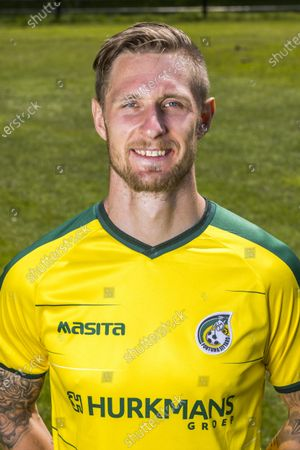 Stock Photo of Sebastian Polter of Fortuna Sittard during the press presentation of Fortuna Sittard at the training complex on July 20, 2021 in Sittard, The Netherlands