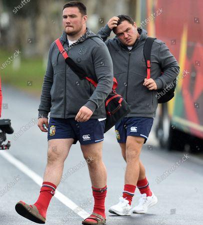 Jamie George - British & Irish Lions hooker (R) and Zander Fagerson.