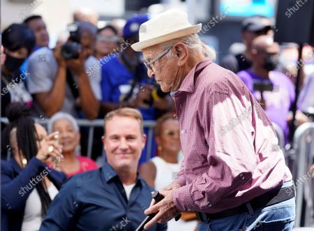 Writer/producer Norman Lear attends a Hollywood Walk of Fame star ceremony for actress Marla Gibbs, in Los Angeles