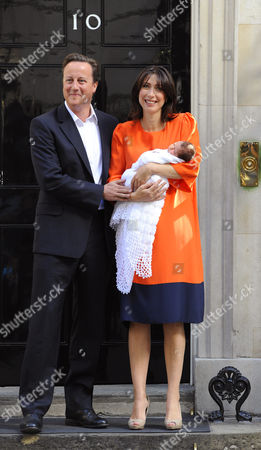 British Prime Minister, David Cameron wife Samantha and  their new baby Florence Rose Endellion.