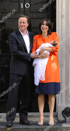 British Prime Minister,David Cameron wife Samantha and their new baby Florence Rose Endellion.