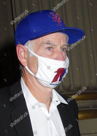 Stock Picture of John McEnroe seen leaving Oswald's after having dinner with a friend