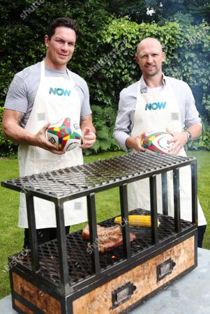 Stock Image of Ahead of the British and Irish Lions Tour of South Africa test matches, streaming service NOW enlists rugby stars Matt Dawson and Francois Louw to compete in the ultimate cultural test match - Braai versus BBQ.