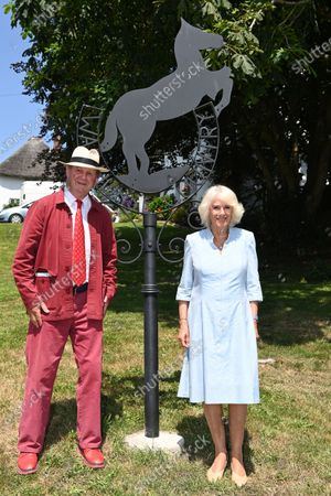 Camilla Duchess of Cornwall visits the Duke of York Inn in Iddesleigh to join author Sir Michael Morpurgo at a lunch club for local residents, the first since the pandemic began. During the visit, Her Royal Highness will hear how Sir Michael met the man who inspired his novel 'War Horse' at the pub and discuss why she chose the book for Season 3 of The Duchess of Cornwall's Reading Room.