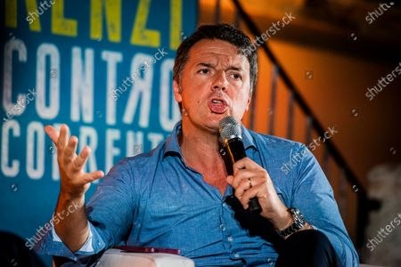 "Italian senator and leader of Italia Viva party Matteo Renzi during the presentation of his book ""Contro Corrente"""