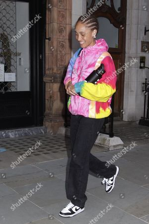 Adwoa Aboah went to Scott's with friends to eat outside