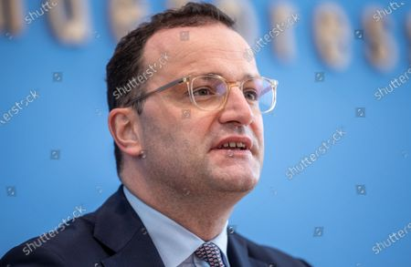 Jens Spahn, Federal Minister of Health, at the Presentation of the National Reserve Health Protection in the Federal Press Conference on July 21, 2021 in Berlin.