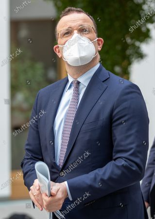 Jens Spahn, Federal Minister of Health, on the way to the presentation of the National Reserve Health Protection in the Federal Press Conference on July 21, 2021 in Berlin.