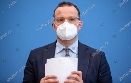 Jens Spahn, Federal Minister of Health, after the Presentation of the National Reserve Health Protection in the Federal Press Conference on July 21, 2021 in Berlin.