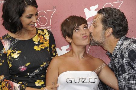 Stock Picture of Donatella Finocchiaro, Carla Marchese, Giuseppe Fiorello